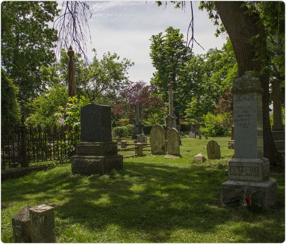 the cemetary